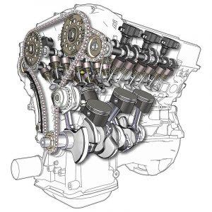silnik widlasty V6